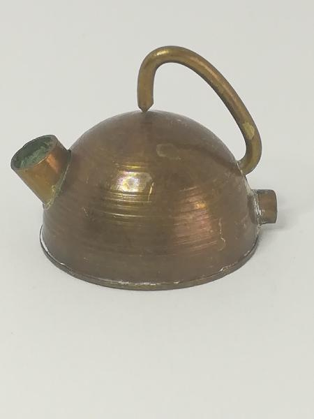 Miniature kettle brass (for printers tray/dollhouse)