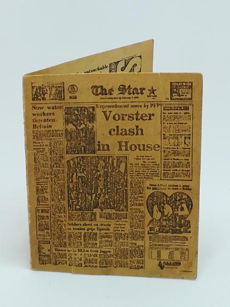 Miniature the star newspaper (for printers tray/dollhouse)