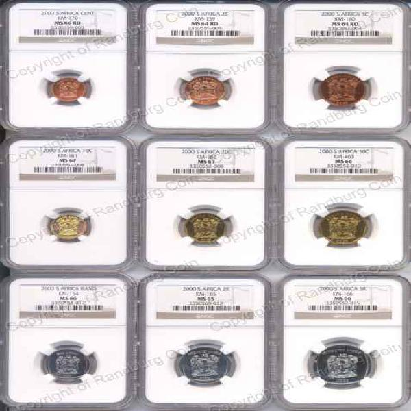 2000 ngc slabbed uncirculated coin set old coat of arms