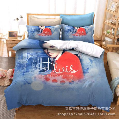 3d elvis double bed set