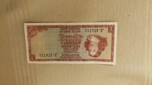 Een rand suid afrikaanse / south african reserve bank tw de