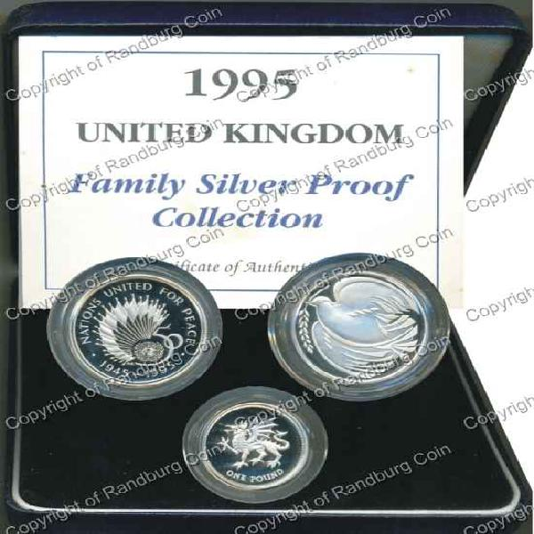 Great britain 1995 - family silver proof collection *#*