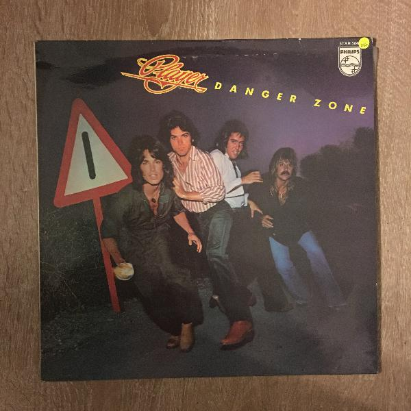 Player - danger zone - vinyl lp record - opened - very-good+