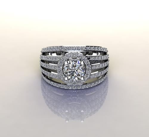 Cd designer jewelry*1.65ctw cz dress ring in 925 sterling