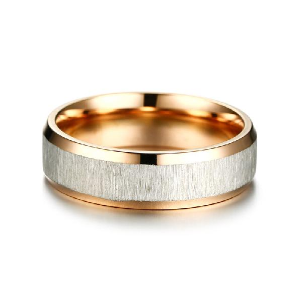 Fashion stainless steel finger ring rose gold silver rings