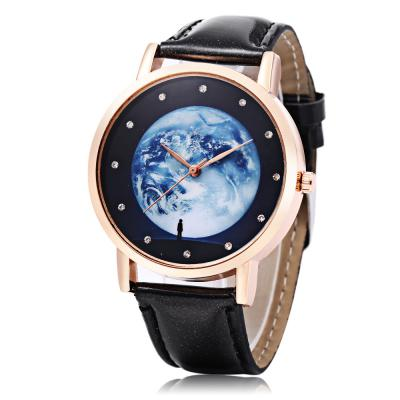 Fashion women quartz watch artificial diamond starry sky
