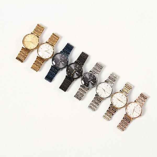 Longbo 80702 fashion crystal dial full steel date display