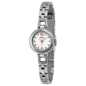 Seiko silver two-tone dial stainless steel ladies watch