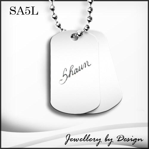 Sparklingthings * stainless steel large dog tag