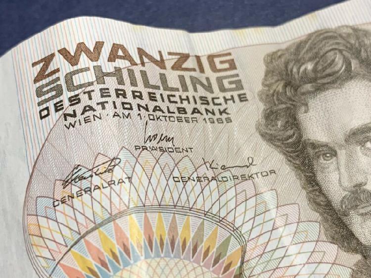 20 Austrian Schilling Bank Note.