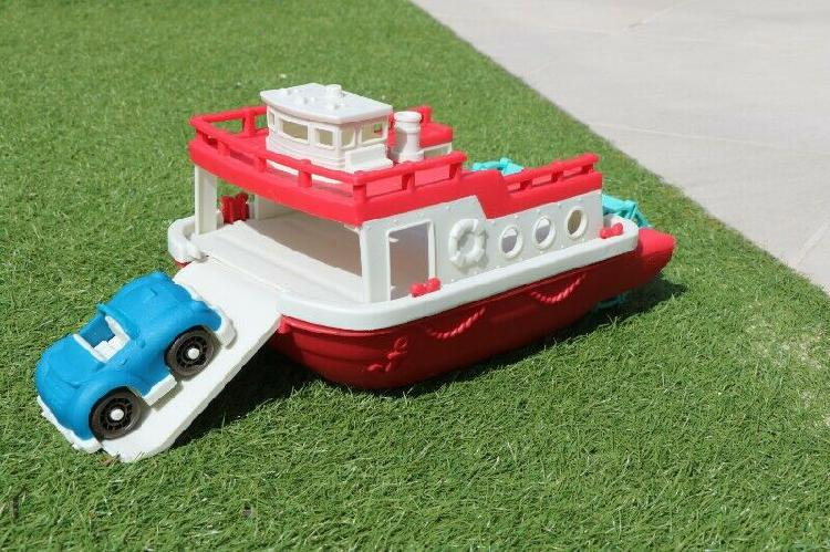 Ferry Floating Bath Toy Boat with Cars for Toddlers 0