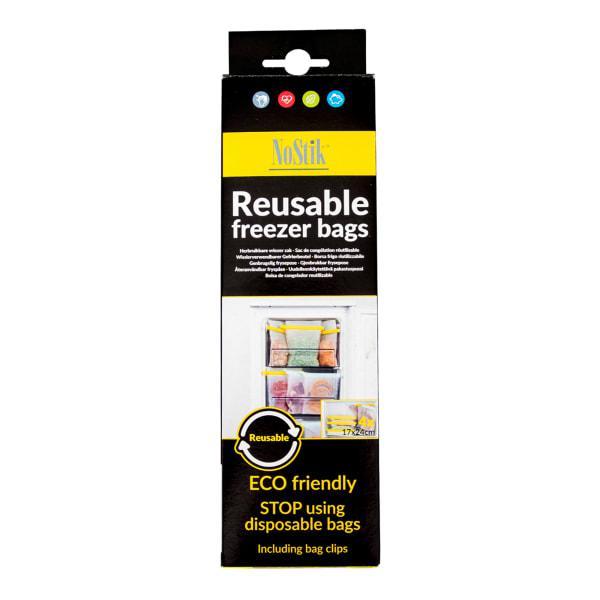 Nostik reusable freezer bags, set of 4