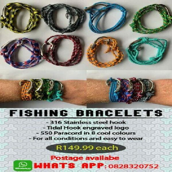 316 Stainless steel Tidal Hook engraved fishing bracelets