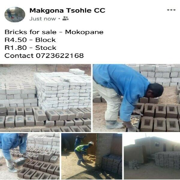 Block bricks for sale @Ga-Mokopane Mahwelereng