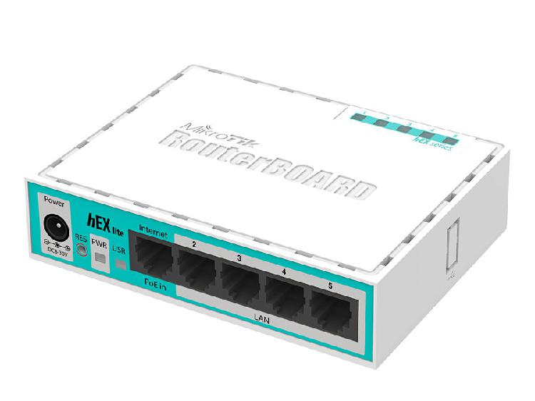 Mikrotik hex lite 5 port ethernet desktop router | rb750r2