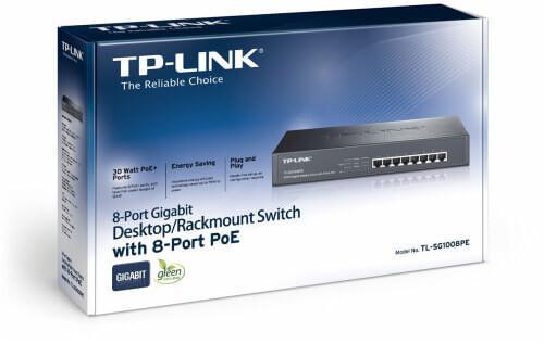 Tplink 8-port gigabit desktop poe switch - tp-link 2kg