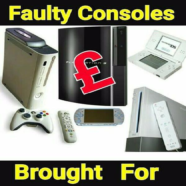 Cash for your faulty consoles