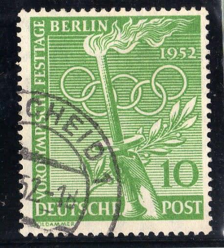 Germany berlin 1952 olympic games festival berlin 10pf green