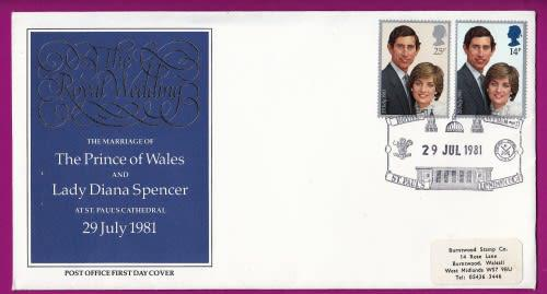 Great britain - 1981 - marriage prince charles to lady diana