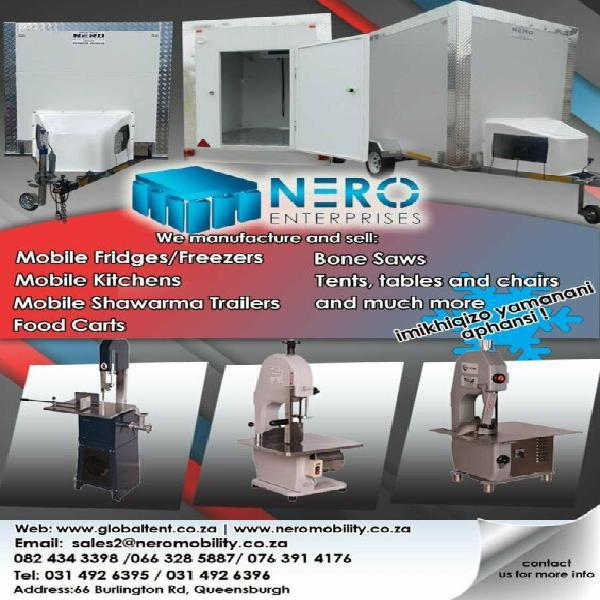 Mobile refrigeration trailer - mobile kitchen trailer -