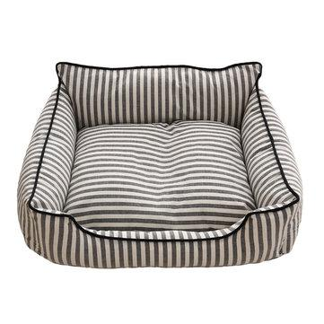 2 colors stripe pattern pet sofa bed mat dog cat sofa kennel
