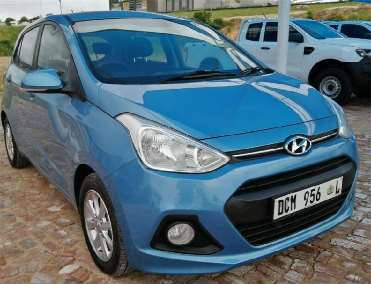 Blue Hyundai Grand i10 1.2 Fluid with 93700km available now!