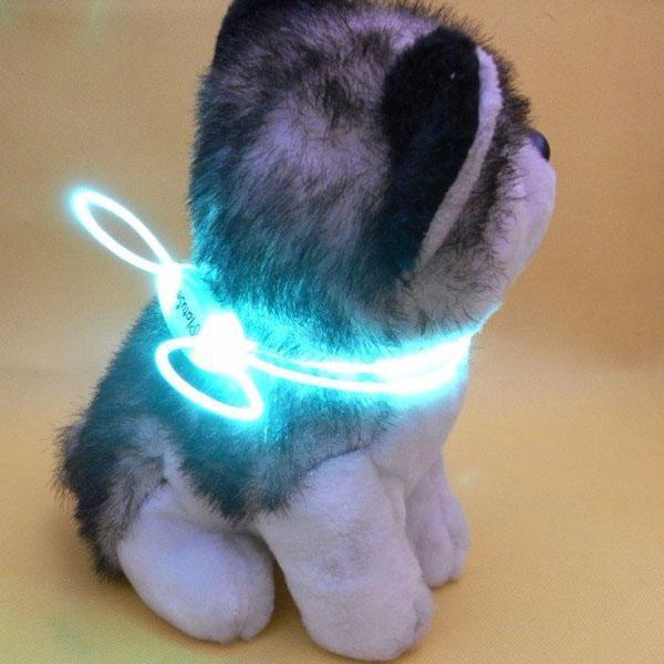 Colorful led pet dog collar chain luminous light led dog cat