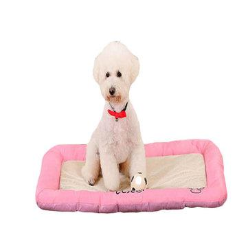 Pet dog beds anti-bite ice silk mesh cloth dog cat bed house