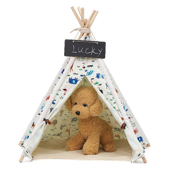 Pet dog house washable tent puppy cat indoor outdoor home