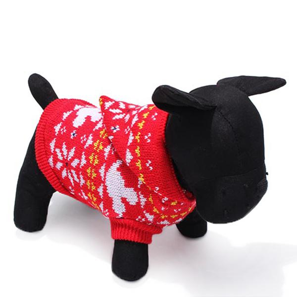 Pet dog knitted breathable warm sweater outwear