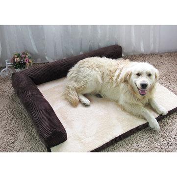 Pet mat soft warm orthopedic pet dog memory foam bed mat