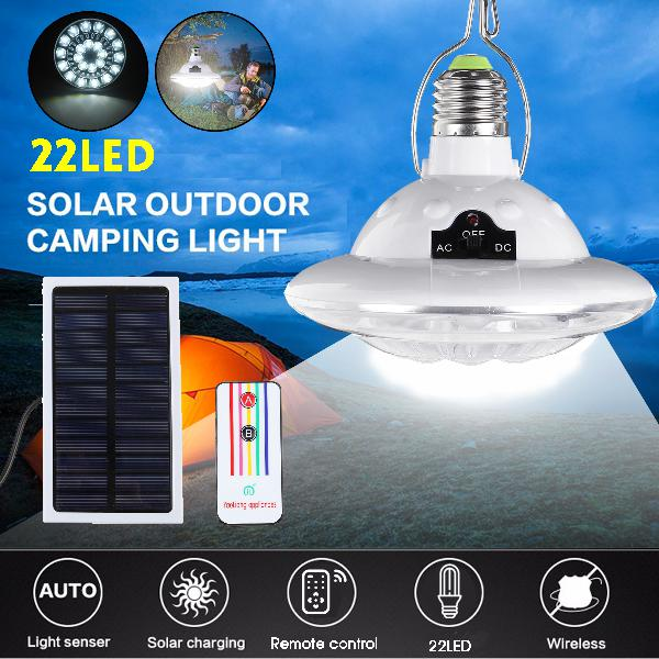 Portable solar panel 22led bulb light 3w outdoor camping