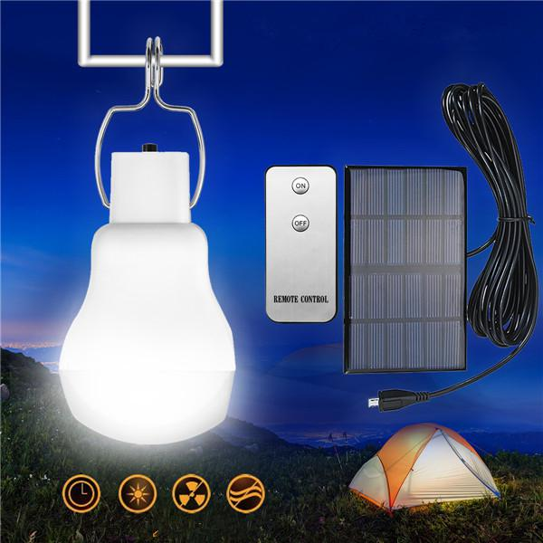 Portable solar powered led light bulb outdoor emergency