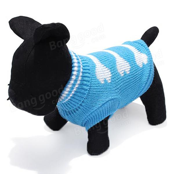 Three bone type turtleneck pet dog knitted breathable