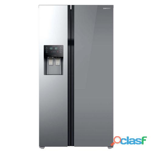 Samsung   535ltr side by side freezer fridge mirror.