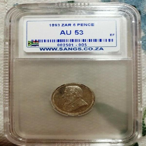1893 6p au53 graded