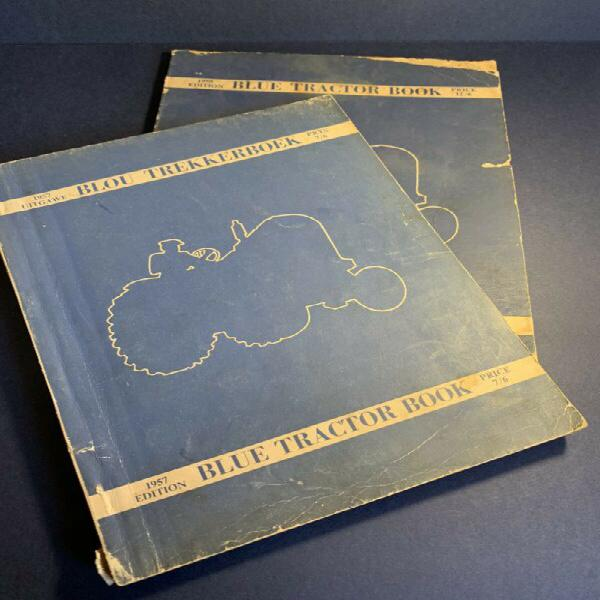 Blue tractor books (x2 - dated 1959 & 1957)