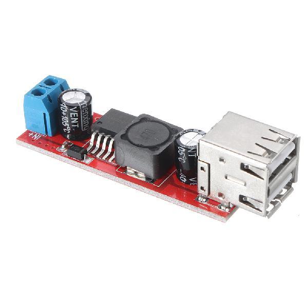 Dual usb output 9v/12v/24v/36v to 5v dc-dc vehicle charging
