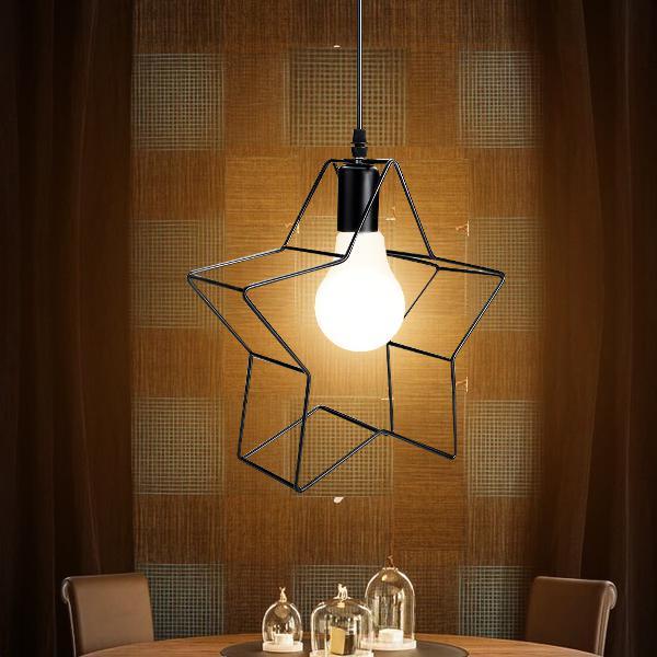 Industrial star shape chandeliers pendant light iron retro