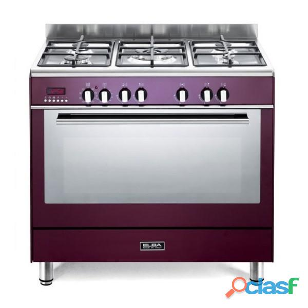Elba 90 cm fusion 5 burner gas/electric cooker   9fx827r