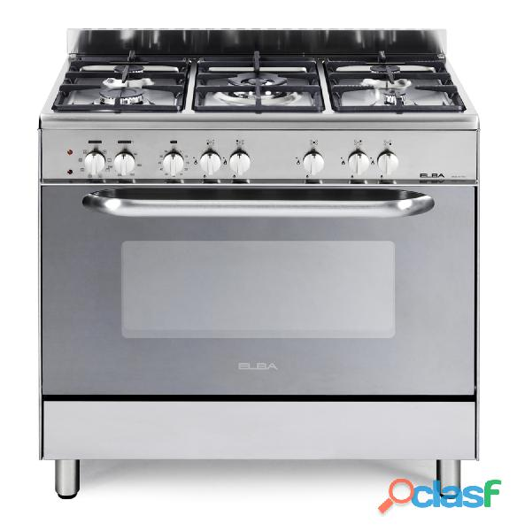 Elba 900mm 5 burner gas electric stove stainless steel   01/9cx827