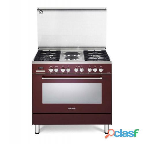 Elba 900mm burner gas / electric stove black