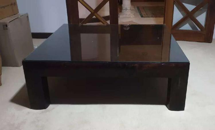 Coricraft large dark wood coffee table