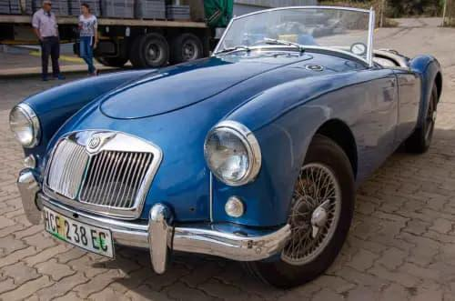 Mg - a 1957 roadster restored in good condition, azure blue