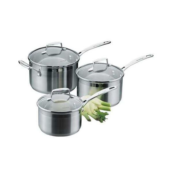 Scanpan impact 3 piece saucepan cookware set