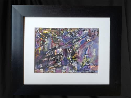Abstract watercolour original by alphen ntimbane