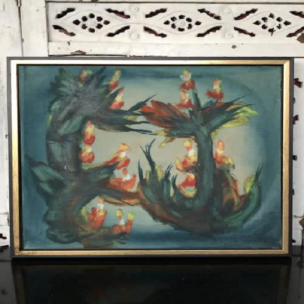 Investment art !! peter clarke (1929 - 2014) oil on canvas