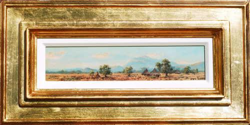 Otto klar oil-108 image size 16-63.5 cm framed. the frame