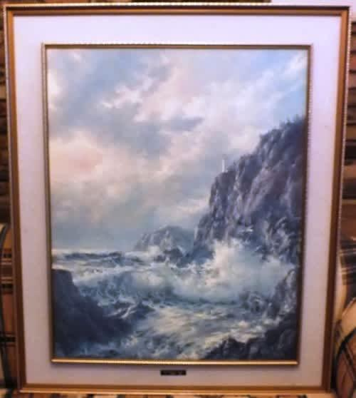 Xtra large oil on board by robert wee approaching storm