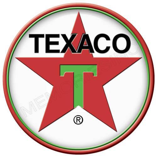 Gasoline - texaco petroleum - classic round metal sign
